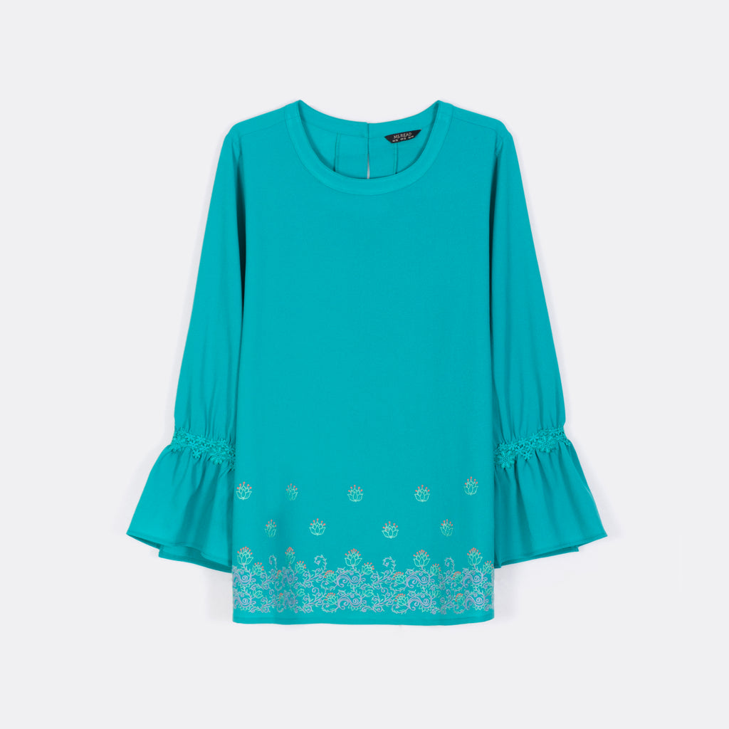 Embroidered Hem Top