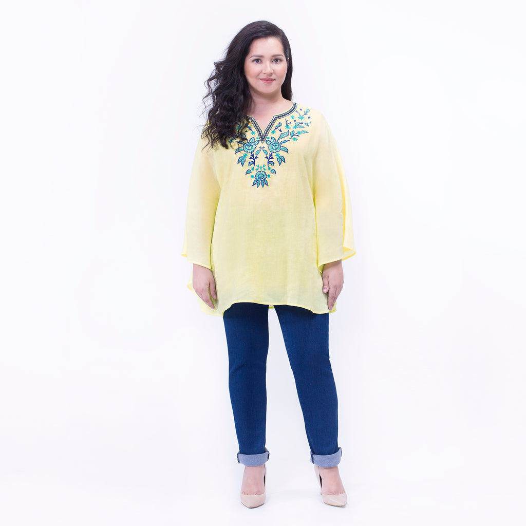 Embroidered Kaftan Top