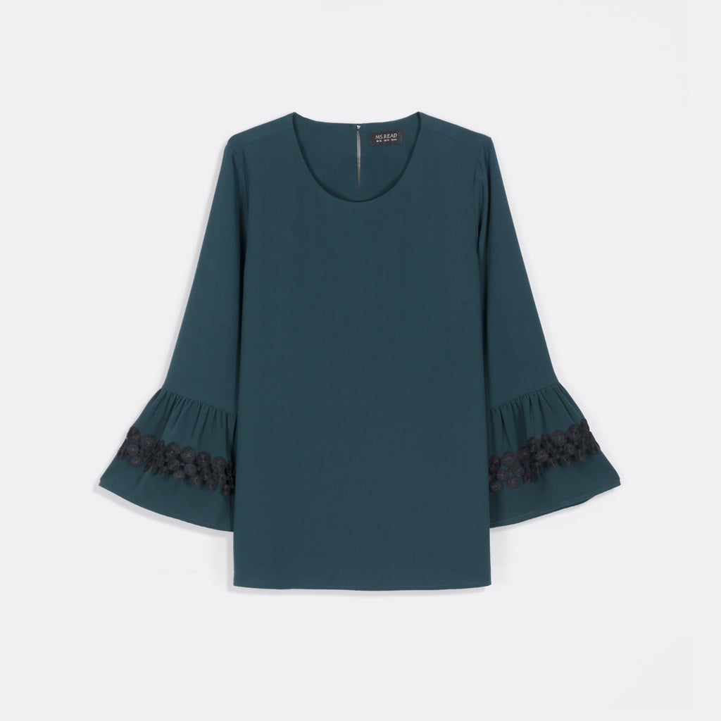 Tiered Frilly Sleeve Top