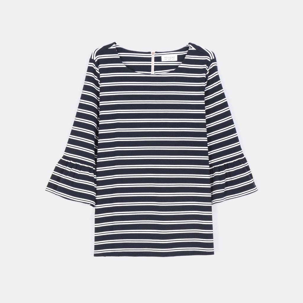 Blue Striped 3/4 Tee