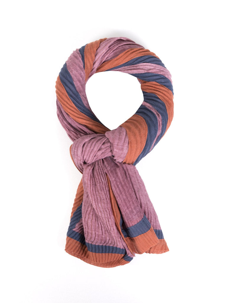 Contrast Pleated Scarf
