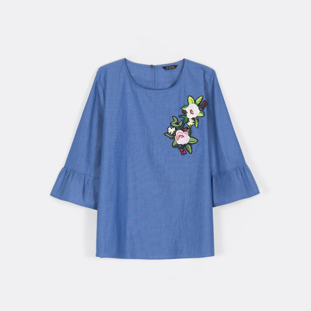Flower Patched Top