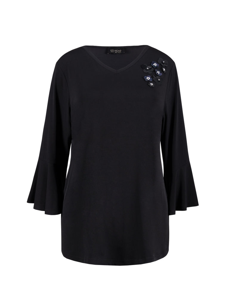 3D SEQUINS APPLIQUE TOP