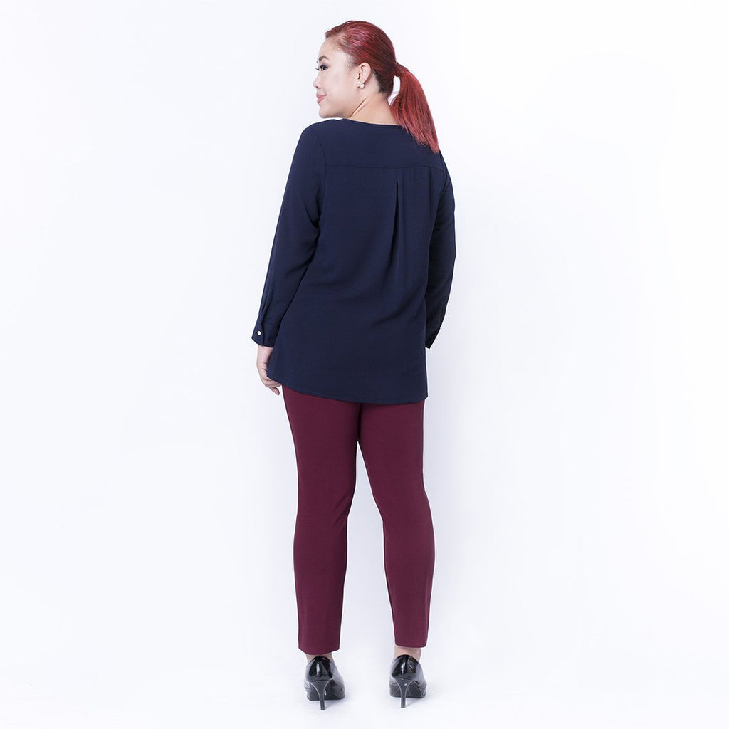 PIN TUCK TRIMMED TOP