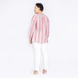 Striped Cotton Linen Top