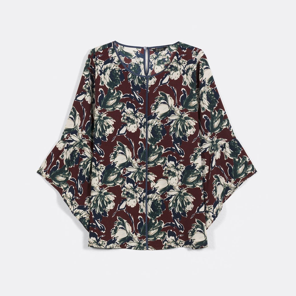 PIPED DETAIL PRINT TOP