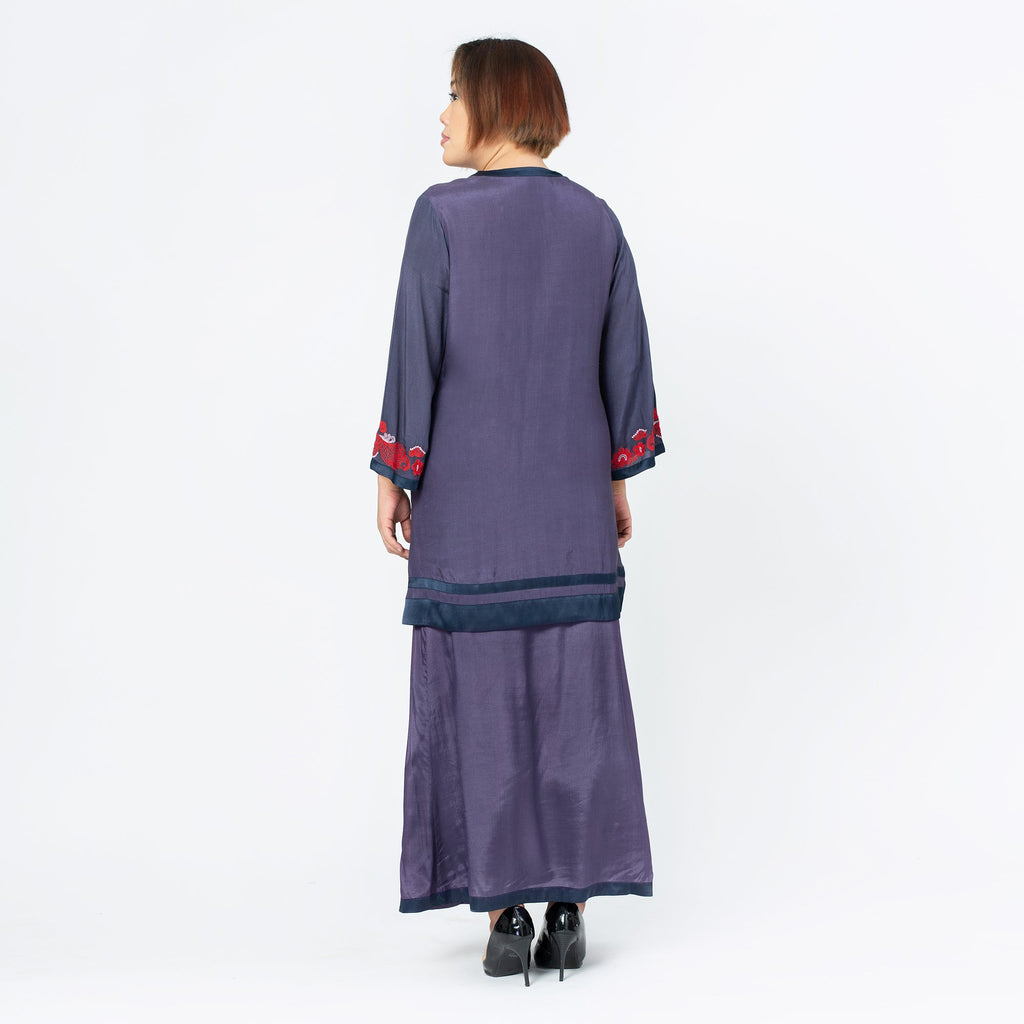 Embroidered Shantung Tunic