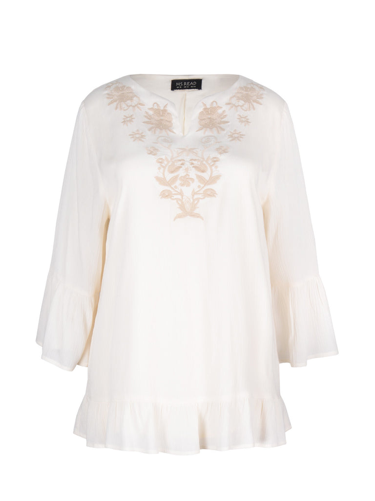 EMBROIDERED BELL SLEEVES TOP