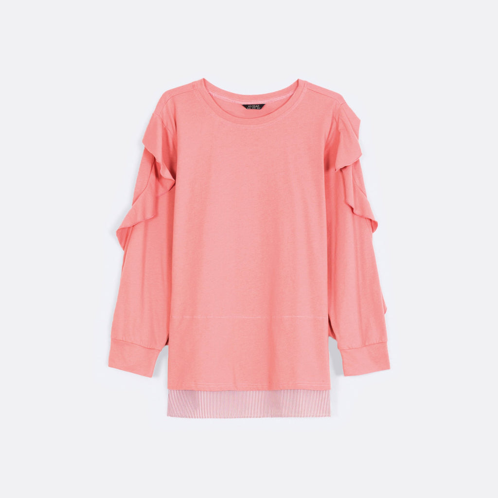 Sleeve Ruffled Top
