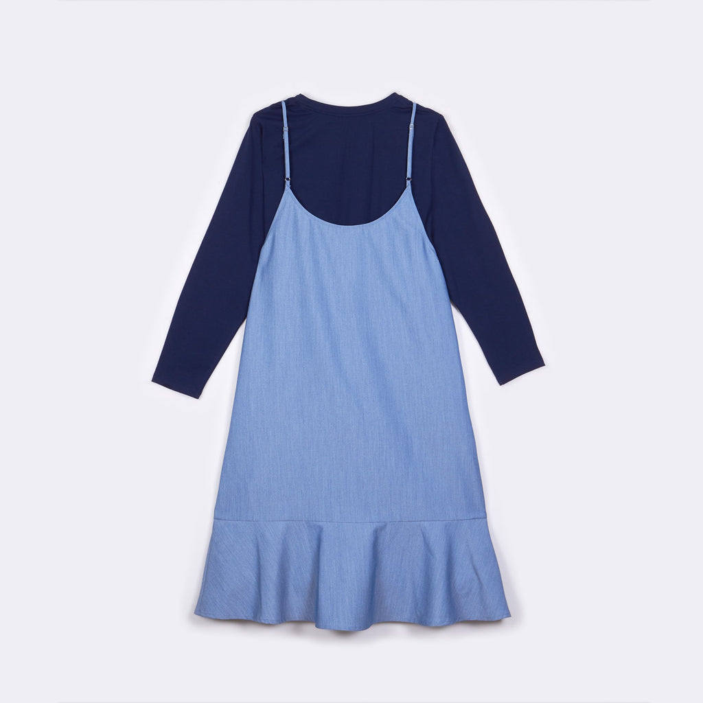 Duo Ruffled Dress
