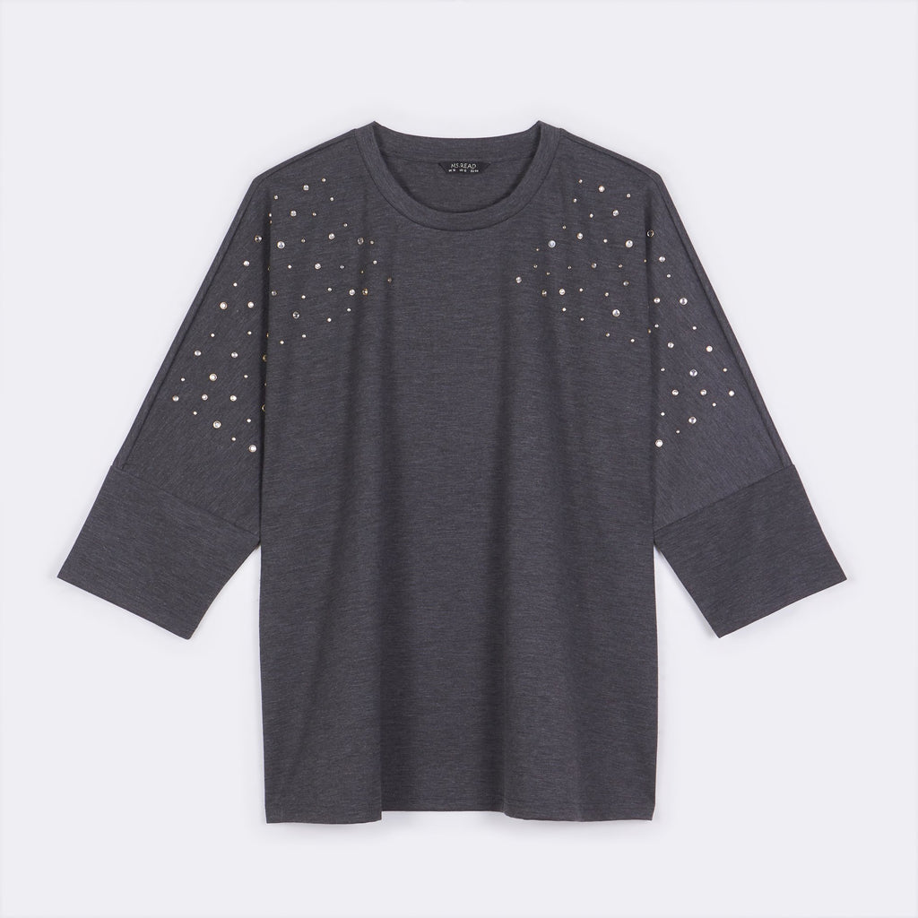 Studded Dolman Top