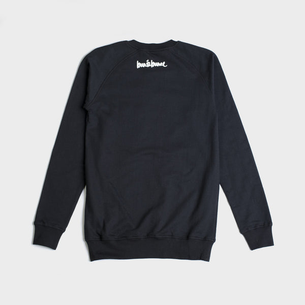 Crew Neck Sweaters-Black - Bun&Bunee