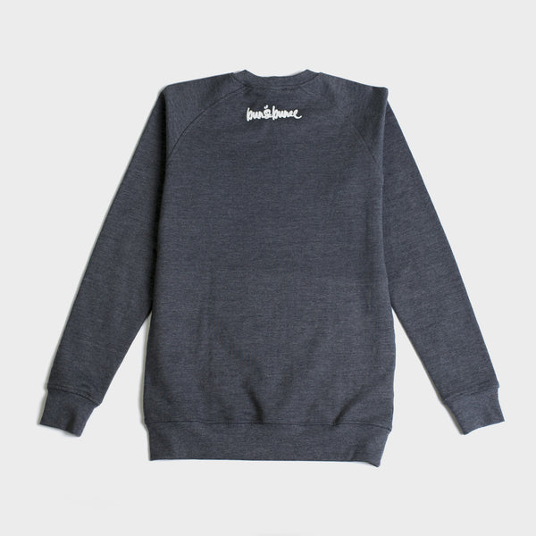 Crew Neck Sweater-Charcoal - Bun&Bunee