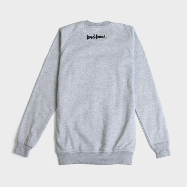 Crew Neck Sweater-Heather Grey - Bun&Bunee