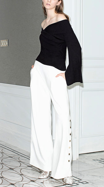 Wide Eyed Trousers in White