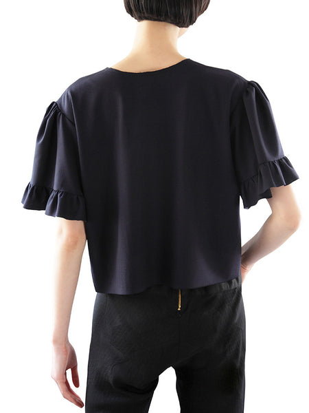 Frilled Sleeve Blouse