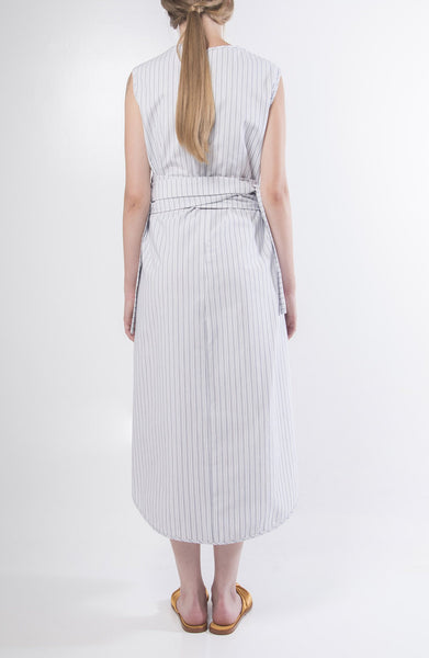 Pinstriped Wrap Dress