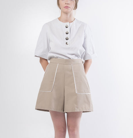Crinckle Cotton Blouse