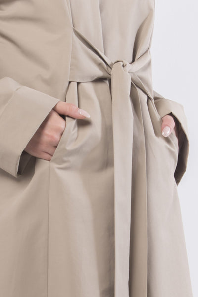 Light Cotton Wrap Coat