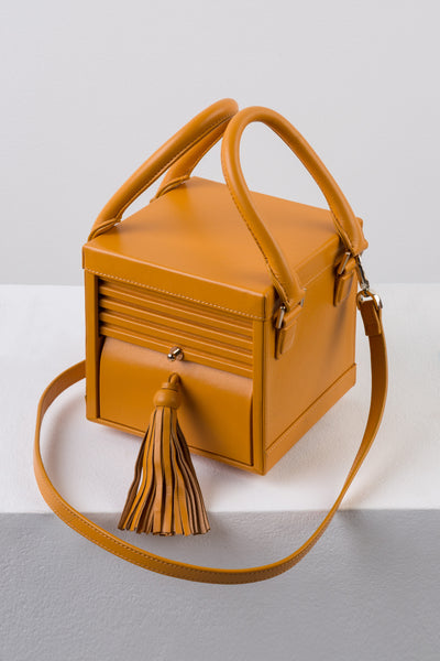 Butterscotch Leather Micro Box Bag