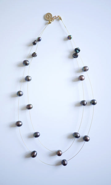 Assorted Chocolate necklace (a two-row chic piece of elegance)