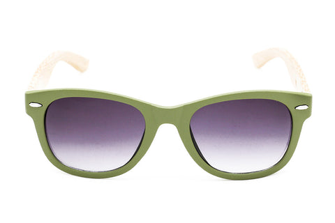Wood Collections - Mirihi Green - Grey Sunglasses - 1