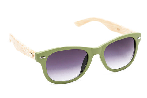 Wood Collections - Mirihi Green - Grey Sunglasses - 2