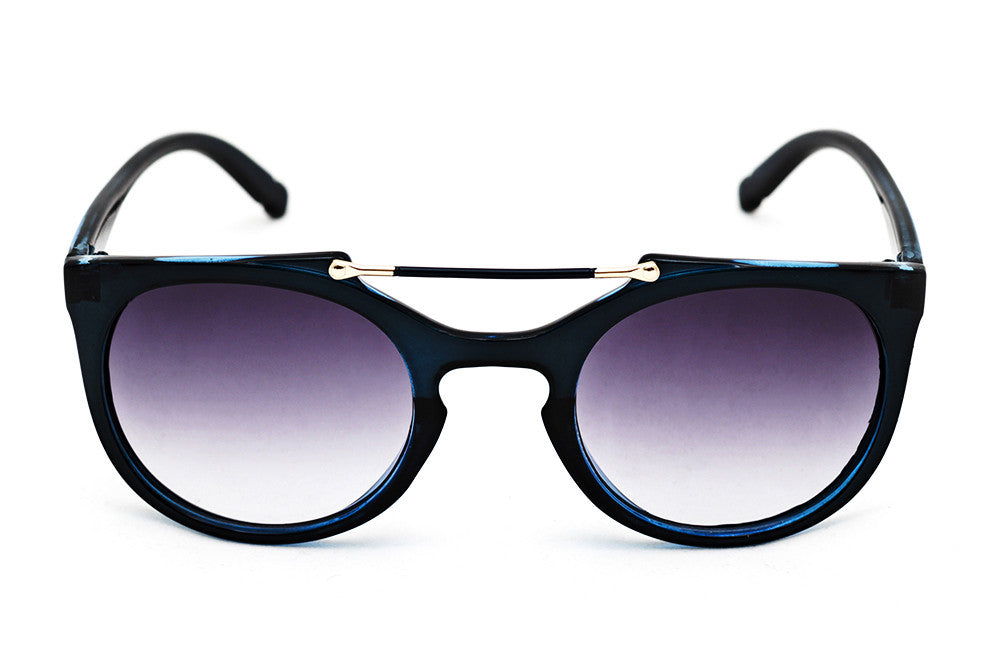 Cleopatra Navy Blue - Grey Sunglasses - 1