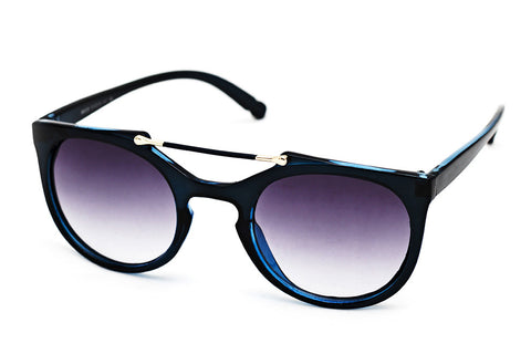 Cleopatra Navy Blue - Grey Sunglasses - 2