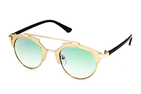 Lunar Celeb' Black Gold Green - Grey Sunglasses - 2