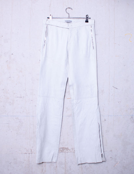 MANSHAREY white raw leather pants | CUSTOMER ARCHIVE