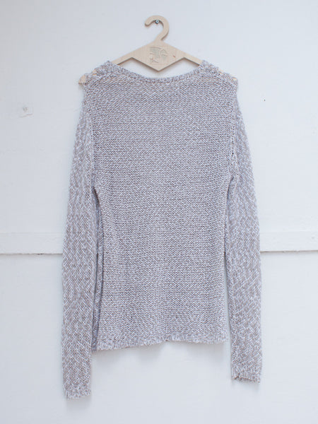 AMERICAN VINTAGE knit sweater beige white | CUSTOMER ARCHIVE - DAMAGE Playground