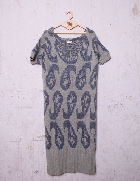 DRIES VAN NOTEN Wool Print Dress | CUSTOMER ARCHIVE