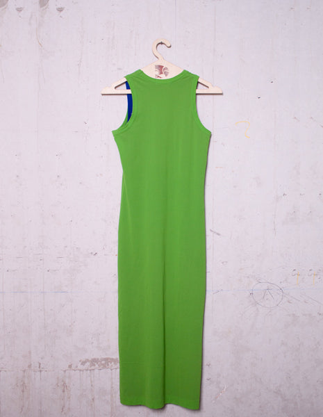 COMME des GARÇONS green-blue double layer dress tank | CUSTOMER ARCHIVE