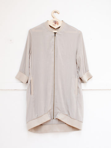 AMERICAN VINTAGE short sleeve silk jacket | CUSTOMER ARCHIVE - DAMAGE Playground