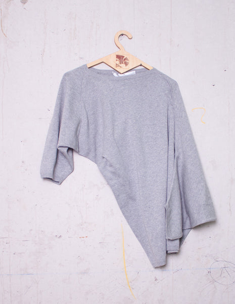 Grey Assymetrical Sweater | Designer Archive - mono.gramm