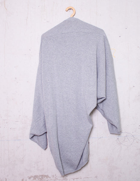 Grey Draped Cardigan | Designer Archive - mono.gramm