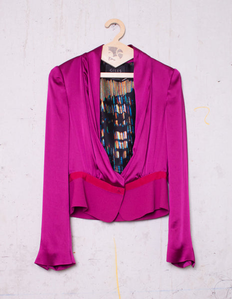 GILES Short purple jacket | CUSTOMER ARCHIVE