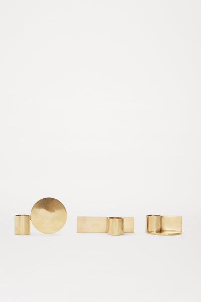 Fundament Candle Holder brass Set of 3 | FRAMA COLLECTION