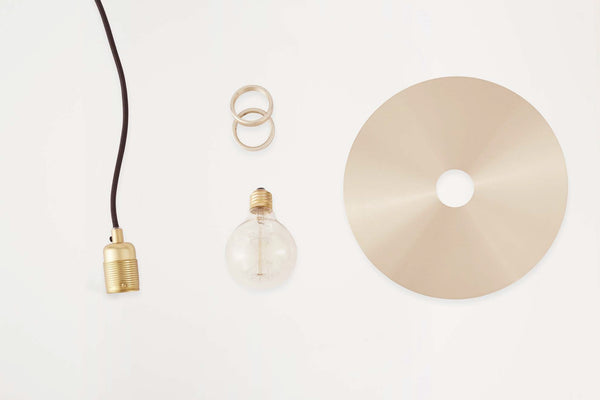 Circle Lamp Shade Brass incl. E27 Pendant  | FRAMA COLLECTION