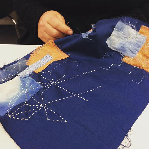 WORKSHOP TEXTIELFABRIQUE | Sashiko borduren / Boro stitching + jeans repair zaterdag 22 juli 2017