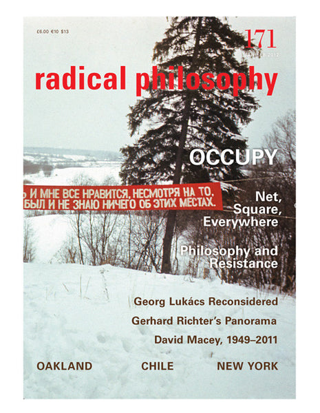 Radical Philosophy journal | ONE YEAR SUBSCRIPTION 2016