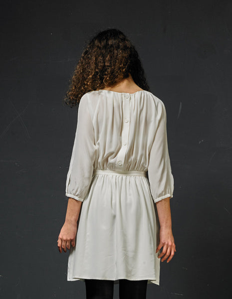 BAND OF OUTSIDERS Ivory Silk Dress | CUSTOMER ARCHIVE - DAMAGE Playground