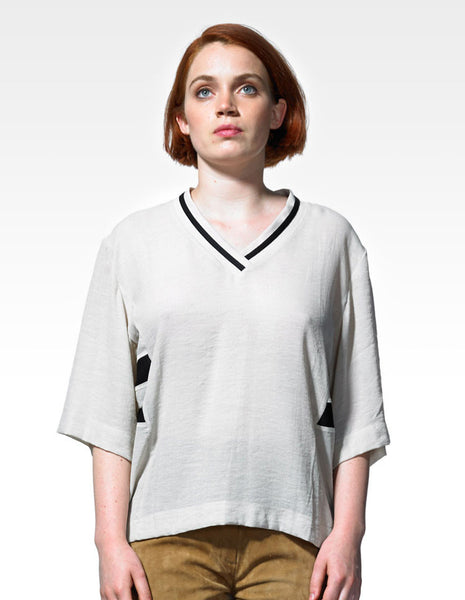 Cyrille Blouse fog | WOOD WOOD