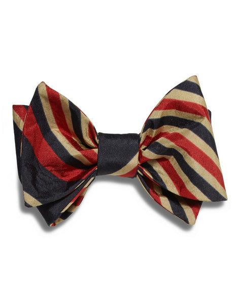 Navy & Red Stripe bow tie | FFD