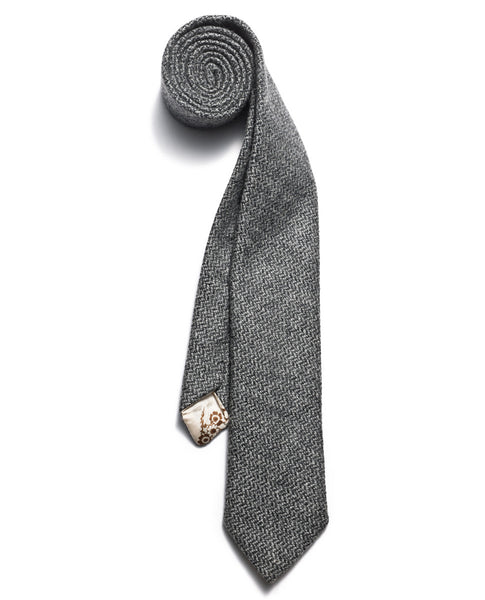 Grey Herringbone neck tie | FFD