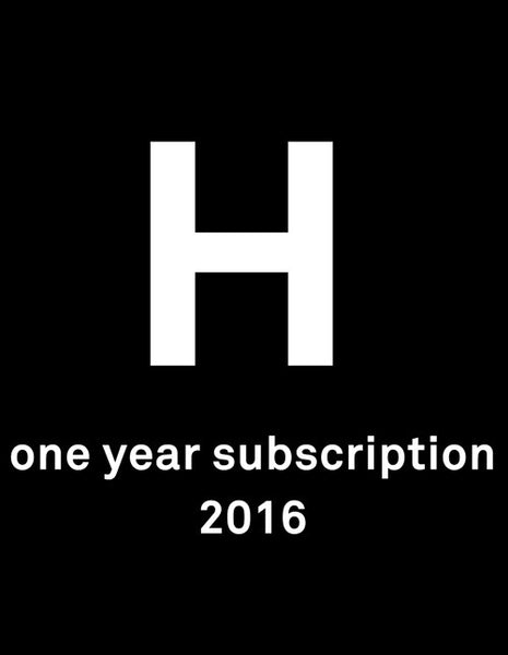 Harvard Design Magazine - ONE YEAR SUBSCRIPTION 2016