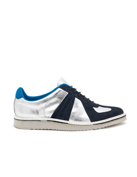 Lou 7 Silver Leather/Suede trainer | SWEAR LONDON