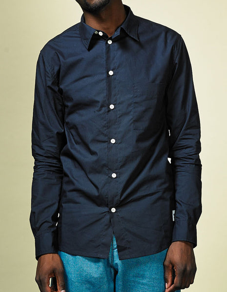Eyser shirt dark navy | WOOD WOOD