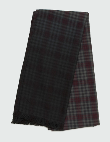 Fair Scarf plum check | WOOD WOOD